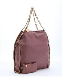Stella McCartney - Pink Rose Vegan Suede 'Falabella' Shoulder Bag - Lyst