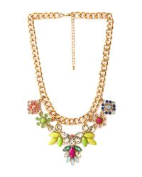 Forever 21 | Metallic Frosted Glam Bib Necklace | Lyst