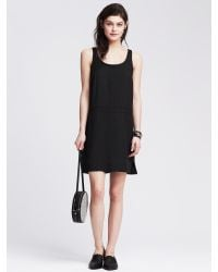 Banana Republic | Black Seamed Shift | Lyst