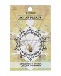 TOPSHOP | Yellow Solar Plexus Chakra Necklace | Lyst