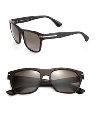 Prada | Brown 55mm Acetate Wayfarer Sunglasses | Lyst