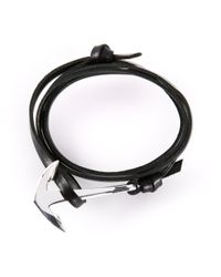 Miansai | Black Anchor Bracelet for Men | Lyst