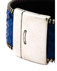 Aech Cheli | Blue 'zip' Bracelet for Men | Lyst
