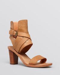Ash - Brown Open Toe Sandals - Queenie High Heel - Lyst