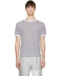 Thom Browne - Black And White Stripe T_Shirt for Men - Lyst