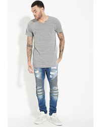 Forever 21 | Gray Eptm. Longline Tee for Men | Lyst