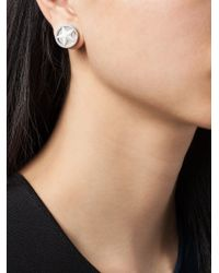 Givenchy | Gray Star Stud Earring | Lyst