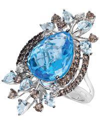 Le Vian - Blue Multi-stone Statement Ring In 14k White Gold (11-1/2 T. T.w.) - Lyst