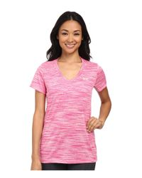Under Armour | Pink Ua Tech™ Space Dye Short Sleeve V-neck | Lyst