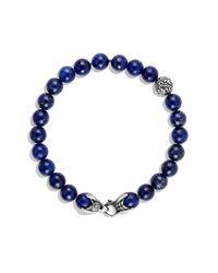 David Yurman - Metallic Spiritual Beads Two-row Bracelet With Lapis Lazuli for Men - Lyst