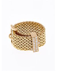 Aurelie Bidermann - Metallic Diamond & Yellow-Gold Belt Ring - Lyst
