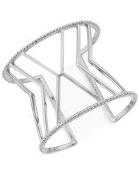 Vince Camuto - Metallic Silver-Tone Chevron Cuff Bracelet - Lyst