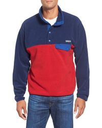 Patagonia   Red 'synchilla Snap-t' Fleece Pullover for Men   Lyst