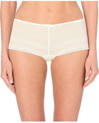 Princesse Tam-Tam - Natural Amy Lace Boxer Shorts - For Women - Lyst