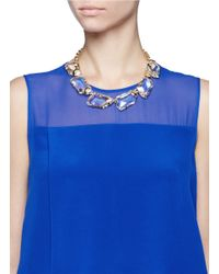 Kenneth Jay Lane - Metallic Large Crystal Necklace - Lyst