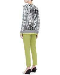 Etro - Green Cropped Cigarette Pants - Lyst