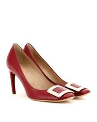 Roger Vivier - Red Belle De Nuit Patent Leather Pumps - Lyst