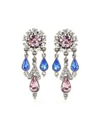 Ben-Amun | Blue Crystal-Embellished Earrings | Lyst