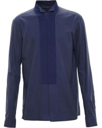 Haider Ackermann - Blue Wing Tip Collar Shirt for Men - Lyst