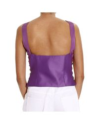 Alberta Ferretti - Purple Top Woman - Lyst