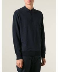 Lanvin | Blue Polo Sweater for Men | Lyst
