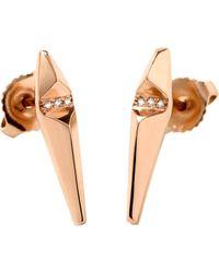 Monique Péan - Pink Diamond Ascent Stud Earrings - Lyst