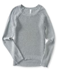 Aéropostale | Gray Solid Waffle Sweater | Lyst
