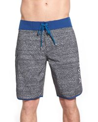 RVCA | Gray 'eastern' Scalloped Hem Board Shorts for Men | Lyst
