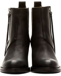 Acne Studios - Black Matte Leather Pistol Boots - Lyst