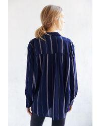 BDG   Blue Melanie Button-down Shirt   Lyst