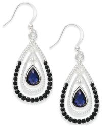 Style & Co. | Silver-tone Blue Triple Teardrop Earrings | Lyst