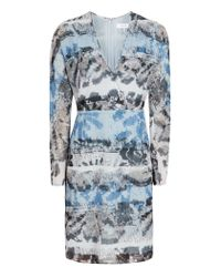 Reiss | Blue Valetta Printed Dress | Lyst