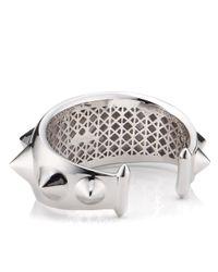 Eddie Borgo | Metallic Rhodium Spiked Cap Cuff | Lyst