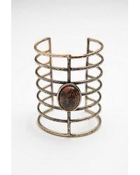 Free People - Metallic Womens Caged Stone Cuff - Lyst