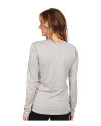 New Balance - Gray Heathered L/S Top - Lyst