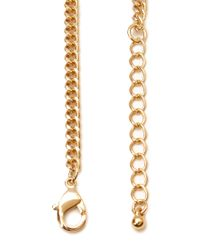 Forever 21 - Metallic Ancient World Crescent Necklace - Lyst