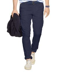 Polo Ralph Lauren - Blue Slim-fit Stretch Cargo Pants for Men - Lyst