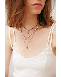 Urban Outfitters - Metallic Triple Delicate Necklace - Lyst