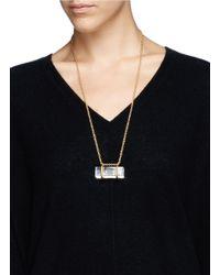 Alexander McQueen - Metallic Bubblegram Skull Plexiglas Pendant Necklace - Lyst