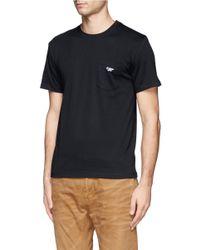 Maison Kitsuné - Black Cotton T-shirt for Men - Lyst