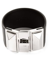 Saint Laurent | Black 'clous Punk' Cuff | Lyst