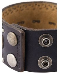 DSquared² | Black Studded Cuff for Men | Lyst