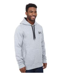 Under Armour | Gray Ua Rival Cotton Hoodie for Men | Lyst