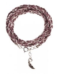 Only Noa Chez Carré Y. | Gray Silver Brown Braided Bracelet | Lyst