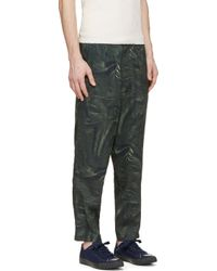 Yohji Yamamoto - Green Leather Print Trousers for Men - Lyst