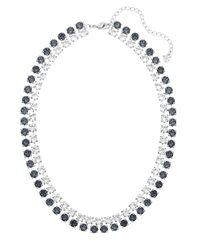 Swarovski | Gray Hot Narrow Mixed Crystal Collar Necklace | Lyst
