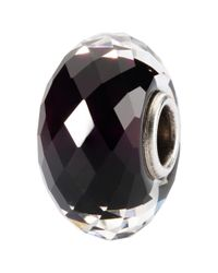 Trollbeads | Black Sahara Night Faceted Fine Italian Glass Charm | Lyst