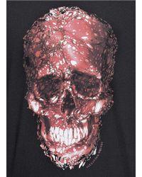 Alexander McQueen | Black Victorian Marble-print Skull Cotton T-shirt for Men | Lyst