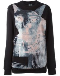 McQ - Black Sequinned Animal Sweatshirt - Lyst