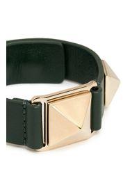 Valentino | Metallic 'rockstud' Macro Leather Bracelet | Lyst